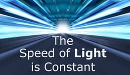speed of light is constant